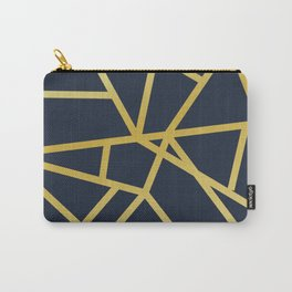 Copper and Midnight Navy society6 Carry-All Pouch