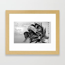 FRIENDSHIP quote Framed Art Print