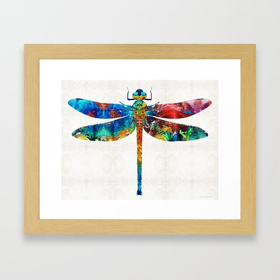 Colorful Dragonfly Art By Sharon Cummings by sharoncummings