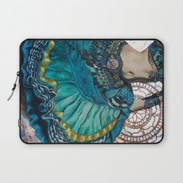 Turquoise Twirling Laptop Sleeve