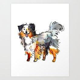 Hans - Dog Watercolour Art Print