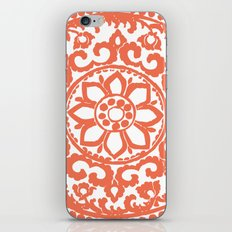 Art Deco Flower Coral iPhone & iPod Skin
