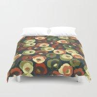 vintage floral Duvet Covers featuring Vintage floral by kociara