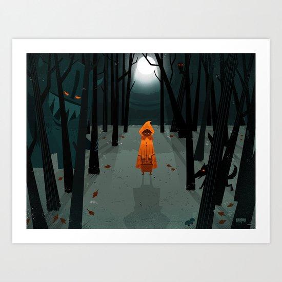 Woods Girl Art Print