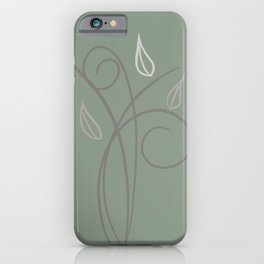 Floral Whimsy Sage Green iPhone Case