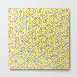 Abstract Silver and yellow pattern - simple pattern Metal Print