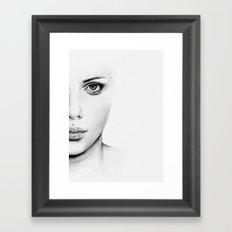 Barely Scarlett  Framed Art Print