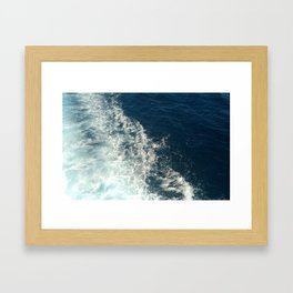 Sea Trails 2 Framed Art Print