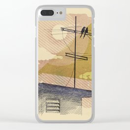 Romantic birds Clear iPhone Case