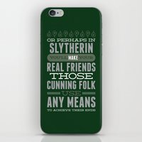slytherin iPhone & iPod Skins featuring Slytherin by Dorothy Leigh