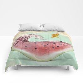 watermelon goldfish 02 Comforters