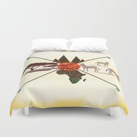 africa Duvet Covers featuring Africa by famenxt