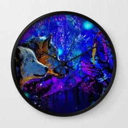 WOLF DREAMS AND VISIONS Wall Clock