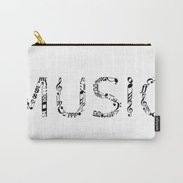 Music typo Carry-All Pouch
