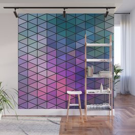Purple Geometric Pattern Wall Mural