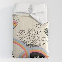 Rainbow Slime Terrarium - Version 1 Comforters