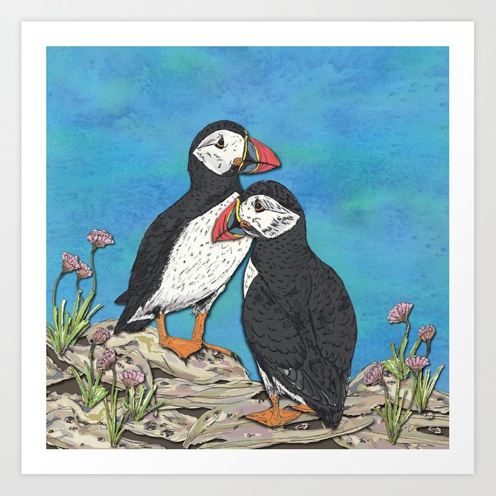 Puffin Perfection Art Print