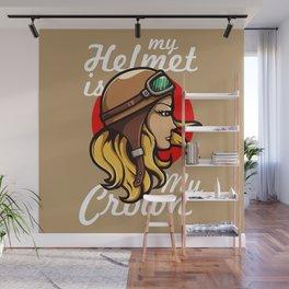 My Helmet is my Crown Wall Mural