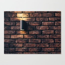 Brick wall in the room Canvas Print