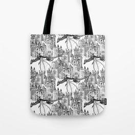 Dragon Kingdom Winter Toile Tote Bag