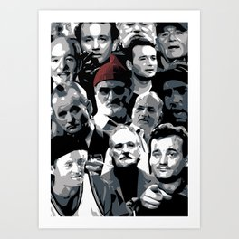 The many faces of Bill Murray Art Print