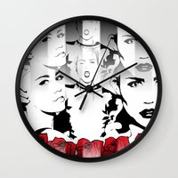miley cyrus Wall Clocks featuring Miley Cyrus by Kunooz