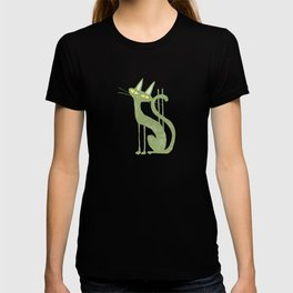 cat with dollar sign T-shirt