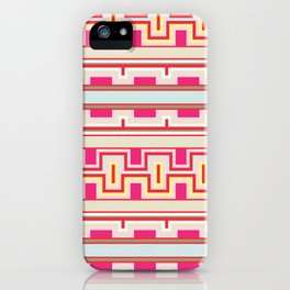 Aztec tribal style pattern iPhone Case
