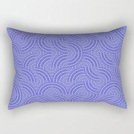 Blue circles Rectangular Pillow