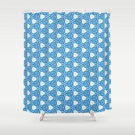 Frozen Flowers Tiles Shower Curtain