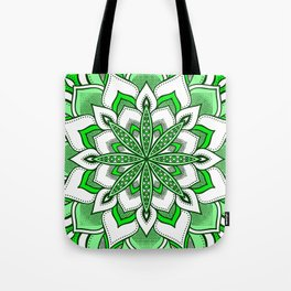 Mandala Flower : Green Tote Bag
