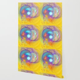Planetary creation in yellow space Wallpaper