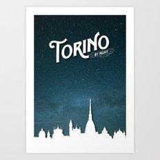 Torino by Night - Poster Art Print