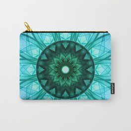 Blue mandala with floral ornament Carry-All Pouch