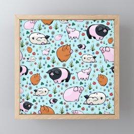 Cute Pigs Framed Mini Art Print