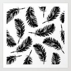 Black feathers Art Print