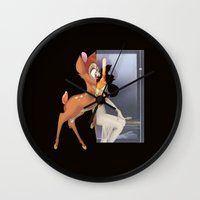 givenchy Wall Clocks featuring GIVENCHY BAMBI (Inspired) by V.F.Store