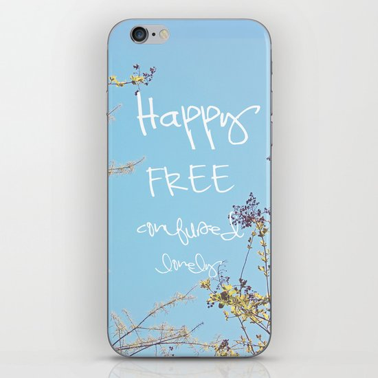 Above All, Be Happy iPhone & iPod Skin