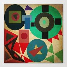 geometric mess Canvas Print