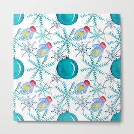 Blue Snowflakes #3 Metal Print