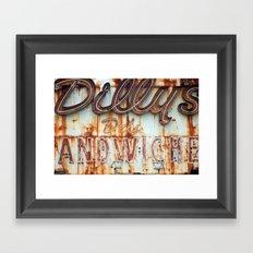 Dilly's Deli Framed Art Print