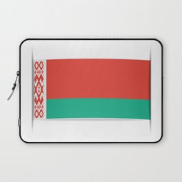 Flag of Belarus.  The slit in the paper with shadows.  Laptop Sleeve
