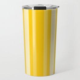 Mustard Victorian Lady Stripe Travel Mug