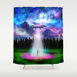 Alien Insight - Hello Alien Shower Curtain