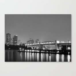 Purple Haze BW Canvas Print