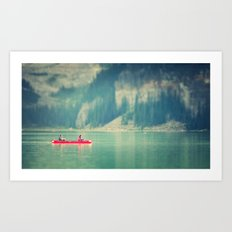 On the lake Art Print