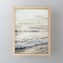 The Ocean Is Calling Framed Mini Art Print