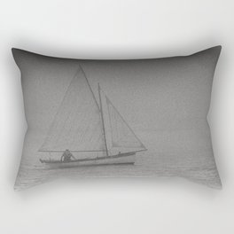Foggy Sail North Berick Sea, Scotland Rectangular Pillow