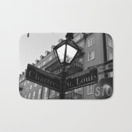 French Quarter, New Orleans streets Bath Mat