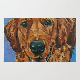 Coper the Golden Retriever Dog Portrait Rug